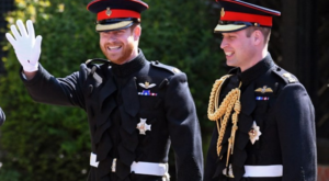 Prince Harry and Prince William meet again after a year at their grandfather's funeral