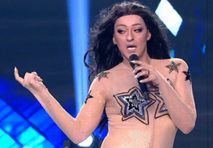 YFSF All Star   The epic appearance of Thanasis Alevras as Eleni Foureira & the guest act of Paschalis Tsarouchas