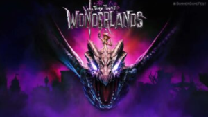Tiny Tina's Wonderlands is a fantastic border with machine guns, dragons and armed sharks